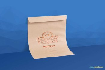 Free Download Envelope Mockup in PSD