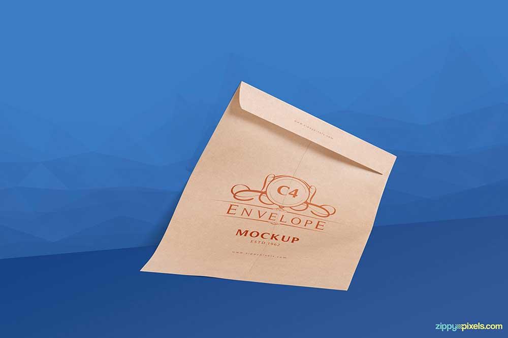 free download envelope mockup