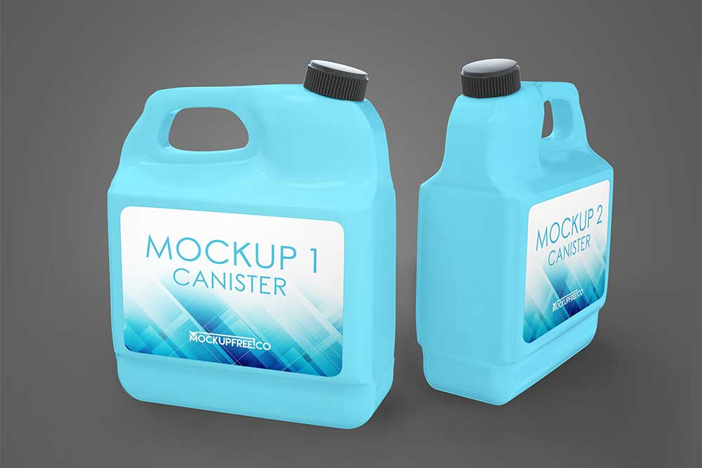 free fuel container mockup