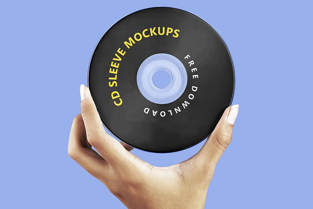 free cd sleeve mockup