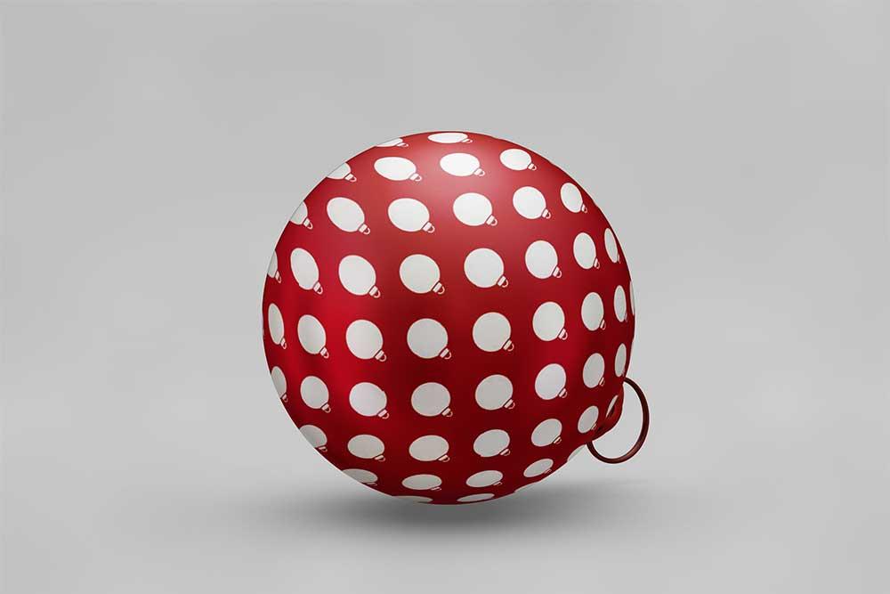 free chrsitmas ball mockup