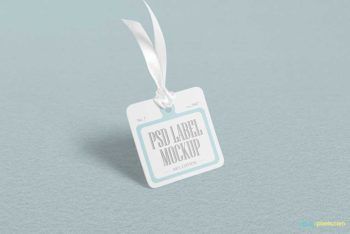 Free Cloth Tag PSD Mockup