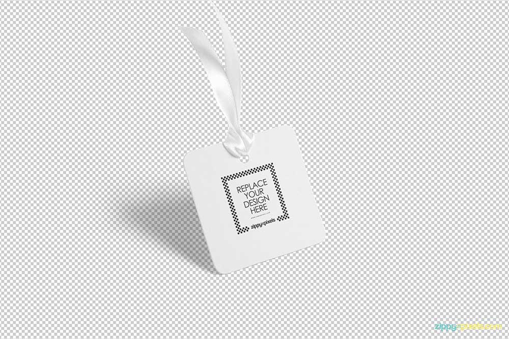 free cloth tag mockup