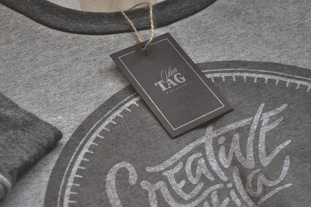 clothes tag mockup