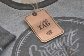 Free Clothes Tag Mockup