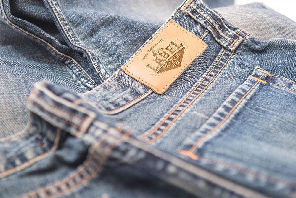 free clothing label mockup