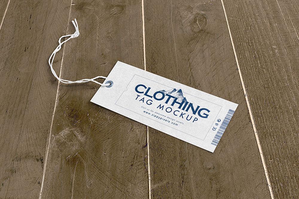 free clothing tag psd mockup