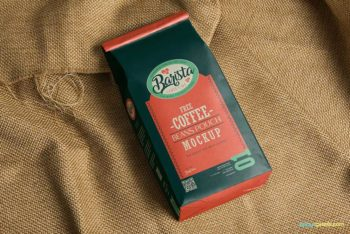 Free Coffee Bag Mockup In PSD