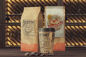 Free Coffee Packaging Mockup Set