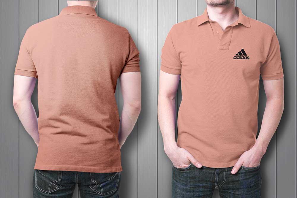 free collar t-shirt mockup
