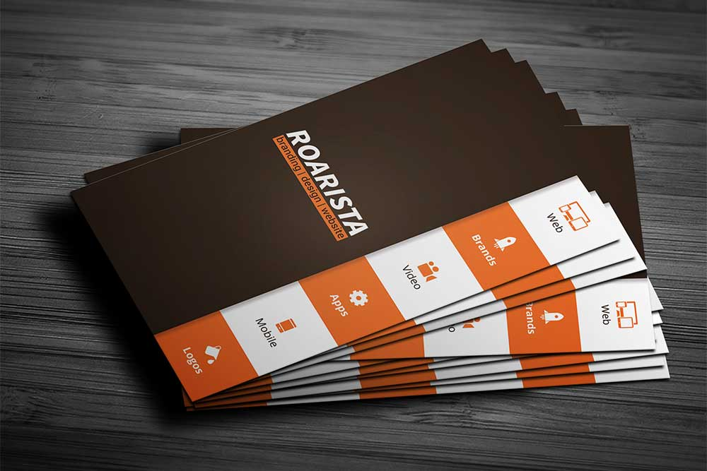 free corporate business card mockup