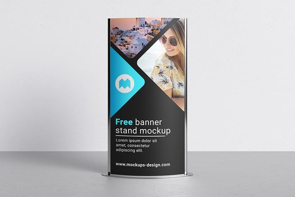free display stand mockup