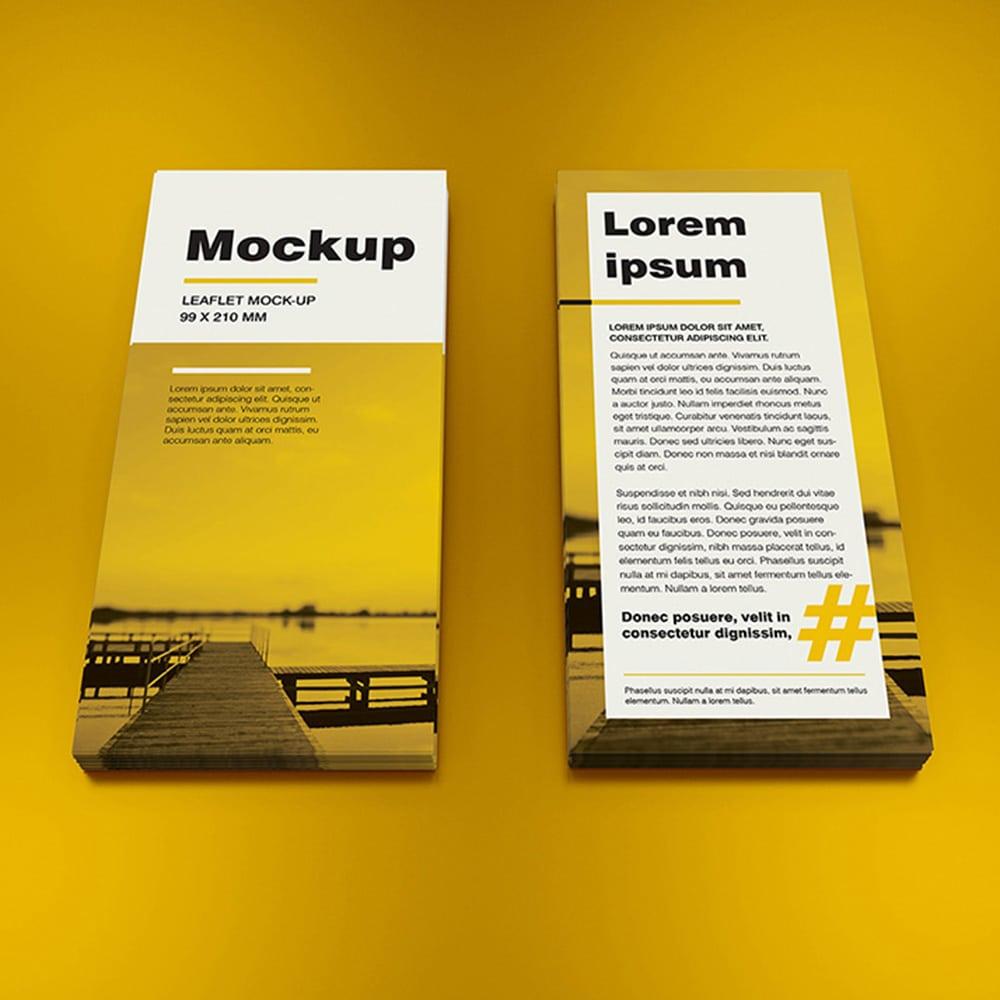 free dl leaflet mockup