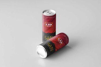 Free Download Beverage Can Mockup