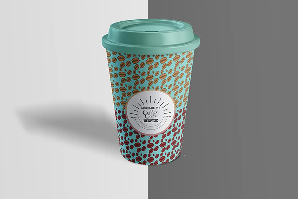 free download coffee cup mockup