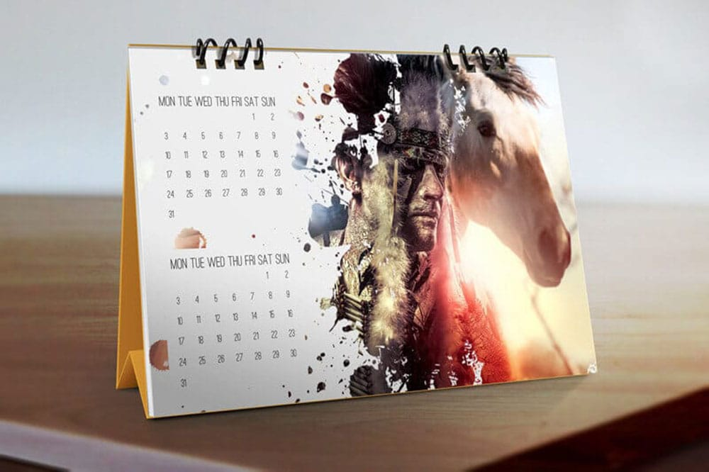 Table Calendar Mockup : Free download desk calendar mockup in psd designhooks