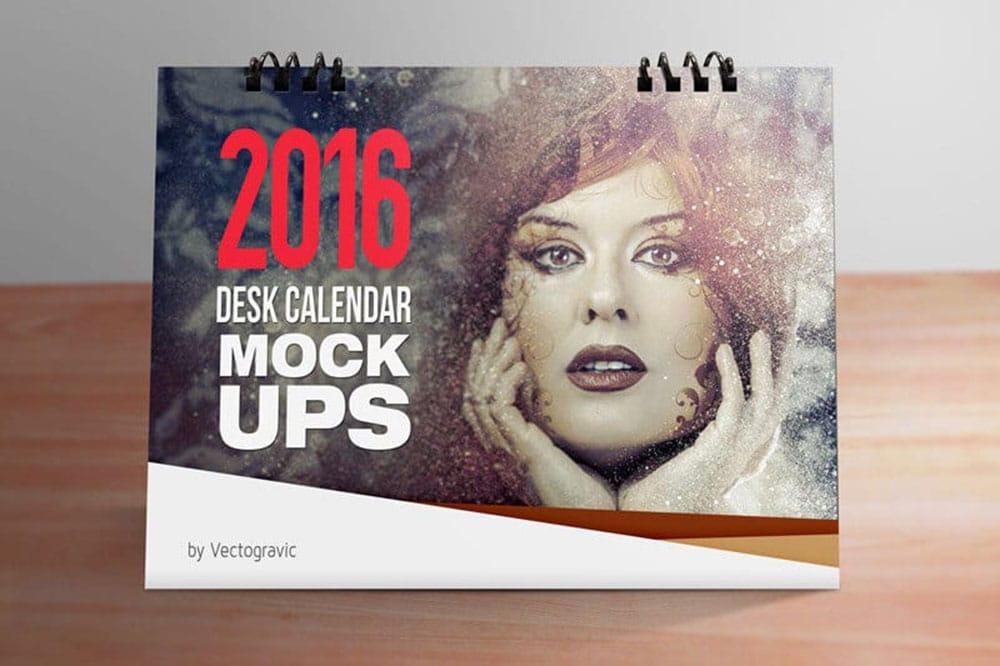 free download desk calendar mockup