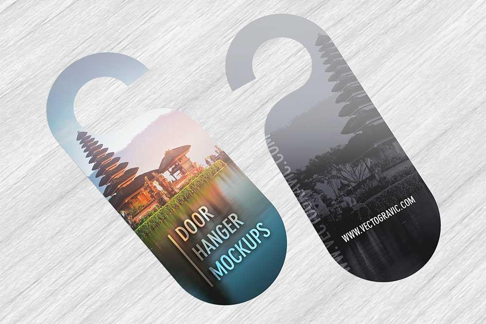 free download door hanger mockup