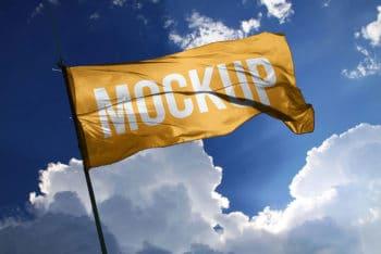 Free Download Fabric Flag Mockup