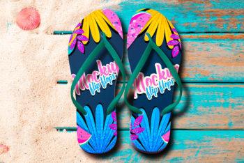 Free Download Flip Flops Mockup