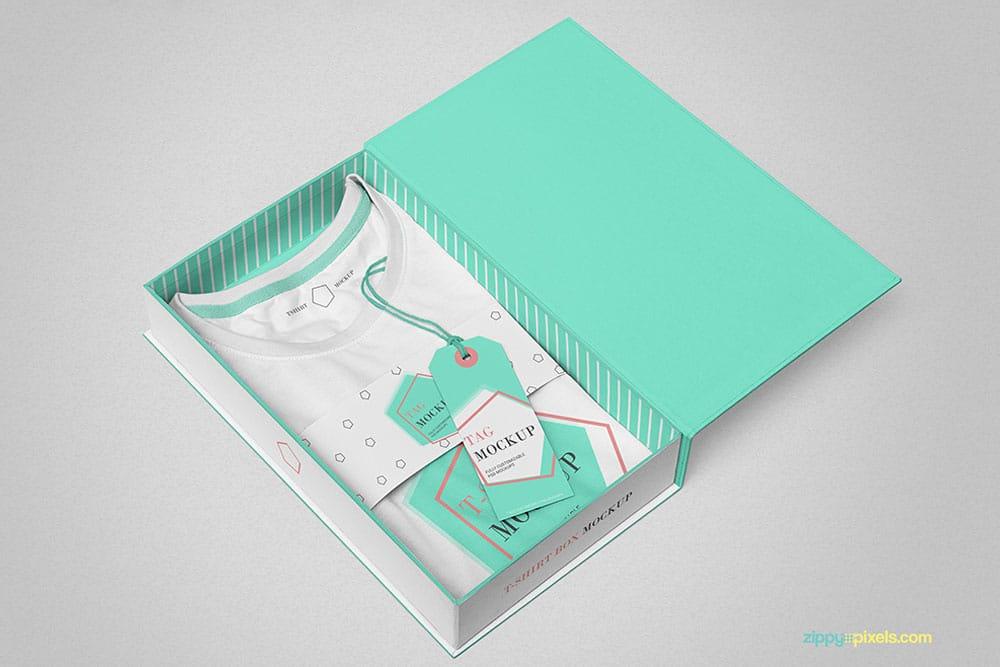free download folded t-shirt mockup