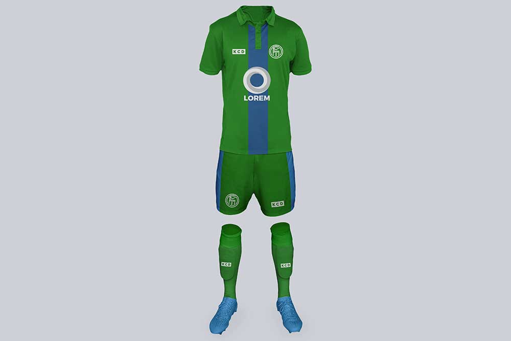 free download football kit psd mockup
