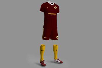 Free Download Football Kit Mockup