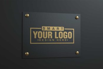 Collection of Free Logo Mockup in PSD