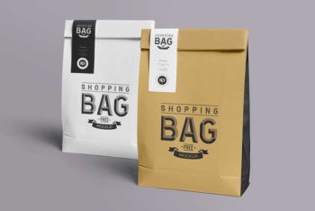 Free Download Shopping Bag Mockup In PSD