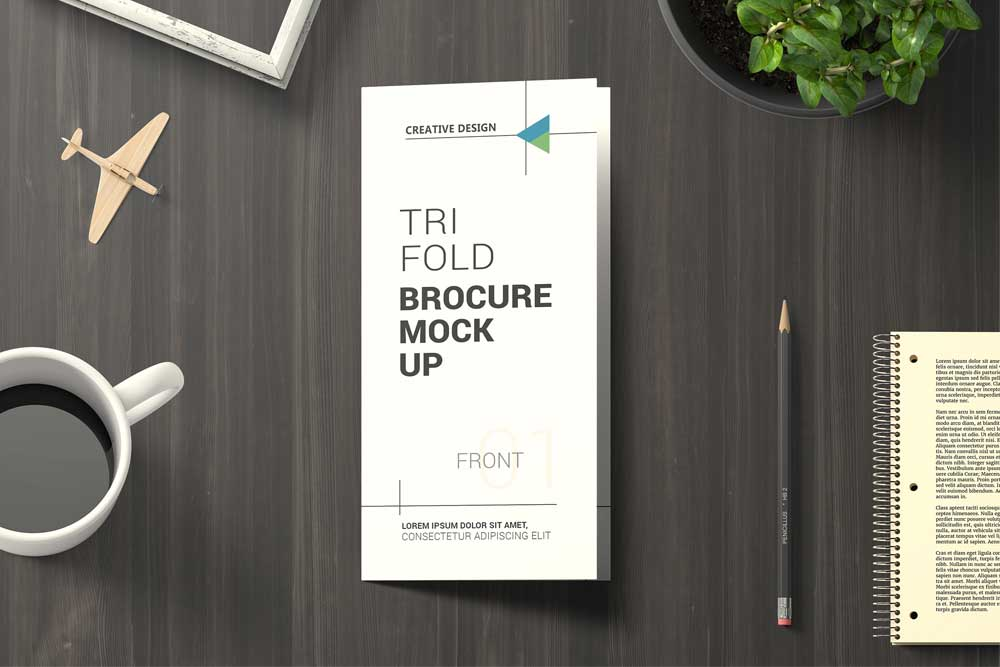 free download trifold brochure mockup