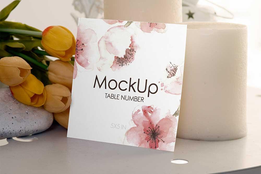 free download wedding invitation card mockup