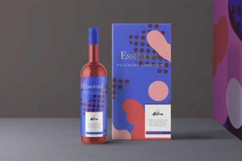 Free PSD Wine Bottle Mockup