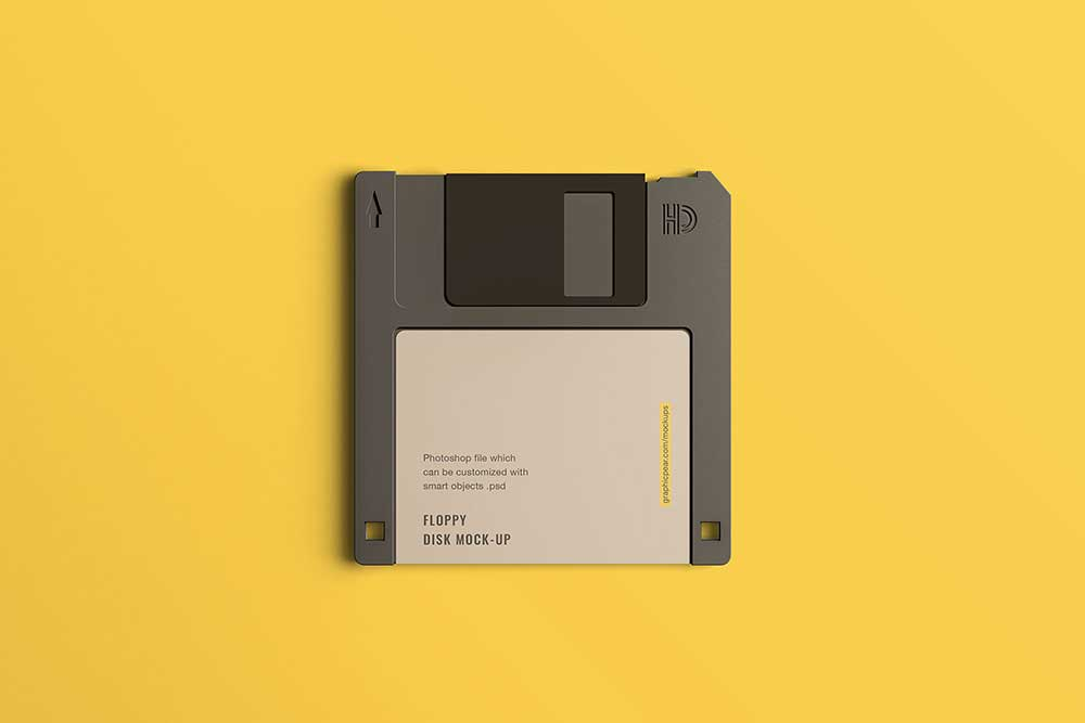 free floppy disk mockup