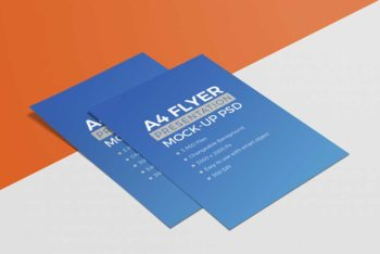 Set of Free Download Flyer Mockup