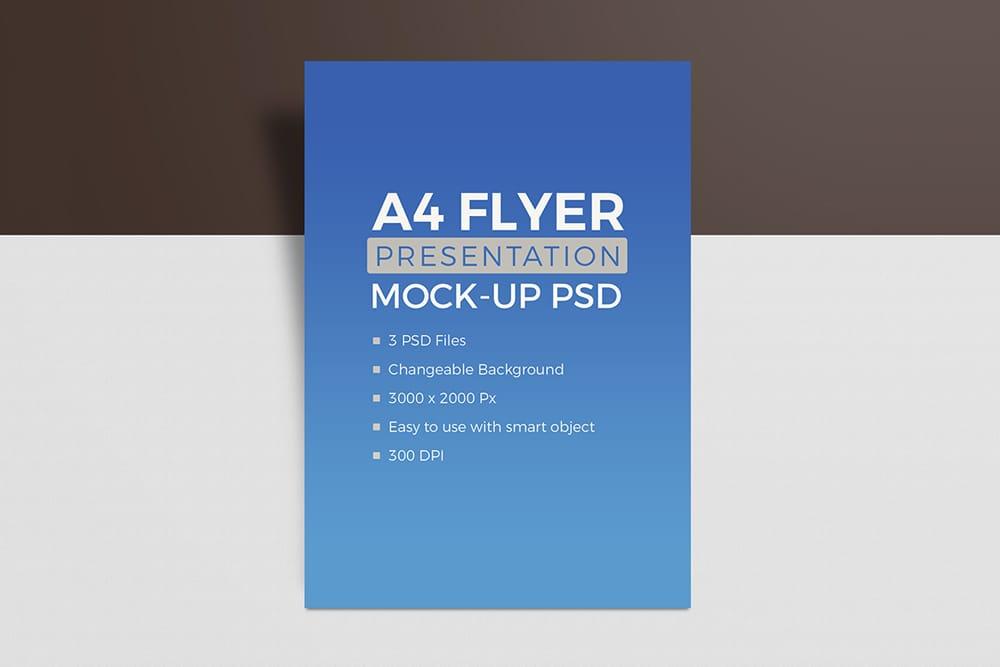 free download flyer mockup