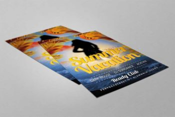 Free PSD Flyer Mockup