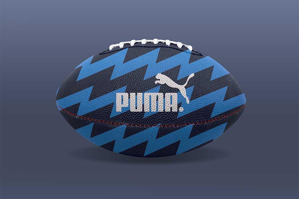 free football ball mockup