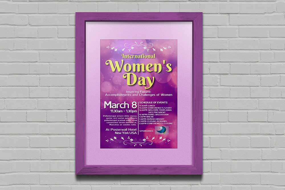 framed poster mockup