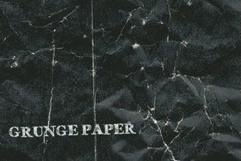 Free Dark Grunge Paper Design Mockup in PSD