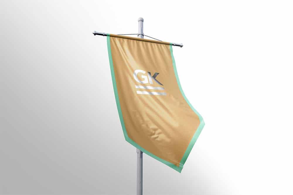 free hanging banner mockup
