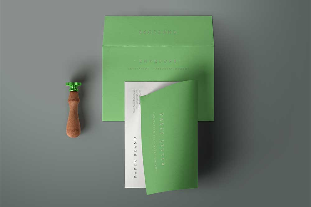 free invitation envelope mockup