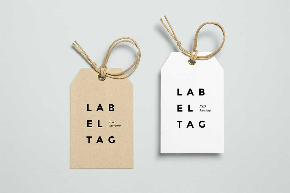 free download label tag mockup
