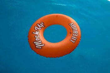 Free Life Buoy Mockup