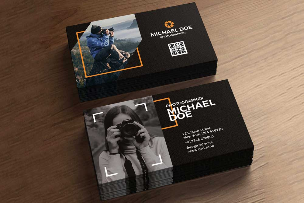 Download this free photography business card template designhooks free photography business card template friedricerecipe Images