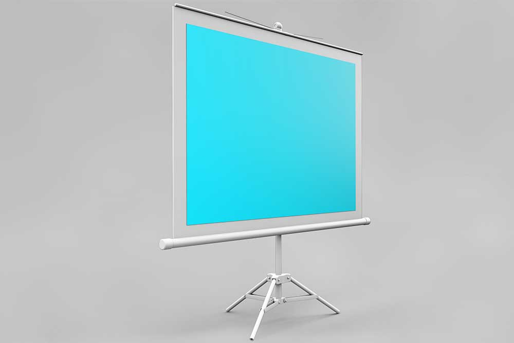free projector screen mockup
