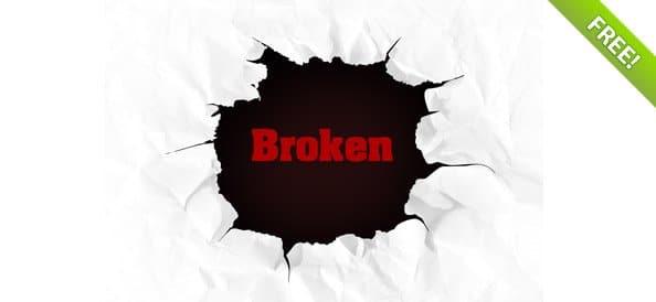 Broken Page Background