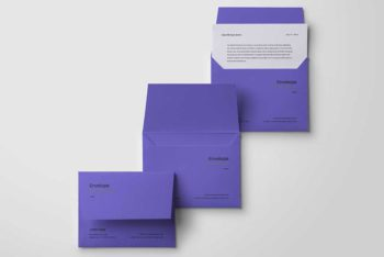 Free Download Envelope PSD Mockup