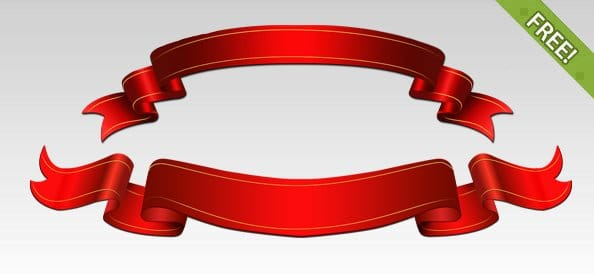 Red Shiny Ribbons
