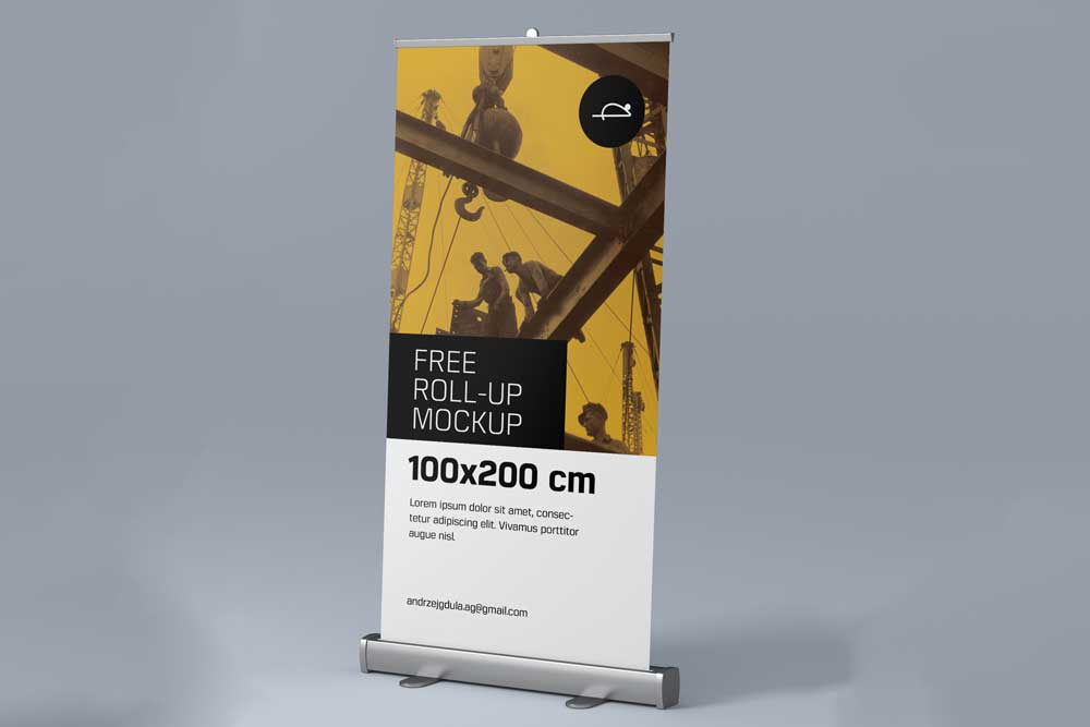 corporate roll-up banner mockup