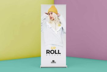 Free Download Roll Up Banner Mockup